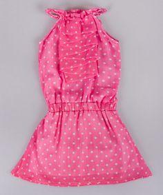 Another great find on #zulily! Pink Dot Tuxedo Ruffle Dress - Toddler & Girls #zulilyfinds
