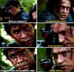 The 100 - Finn and Bellamy, Season 2:  What do I have to do to get two awesome guys to be this intense and passionate about me?!