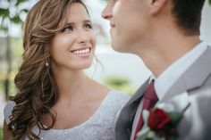 Matt Shumate Photography at the Spokane LDS Temple happy bride looking at her groom with love in her beautiful eyes on the wedding day