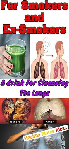 FOR SMOKERS AND EX-SMOKERS TOO – A DRINK FOR CLEANING THE LUNGS!
