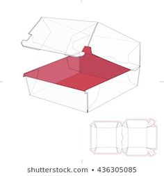 Box Template: imagens, fotos e vetores stock | Shutterstock Box Packaging, Packaging Design, Paper Packaging, Origami Wallet, Burger Box, Paper Box Template, Cardboard Packaging, Diy Gift Box, Diy Cardboard