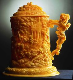 """A Beer Mug: """"Bacchus March"""" by Alicja Pluta Contemporary references to amber art and craft of the turn of the 17th and 18th cent."""