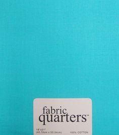 Fabric-Quarters Cotton Fabric-Solids Turquoise