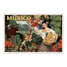 Land of Tropical Splendour ~ Vintage Mexico Travel Posters