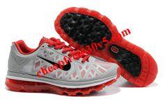 Mens Nike Air Max 2011 Grey Red Black Sneakers