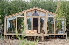 Name: DublDom by BIO-Architects Size: 280 to 860 square feet Cost: $13,200 to $41,600  Key features: Wood frame construction, open terrace, double glazing