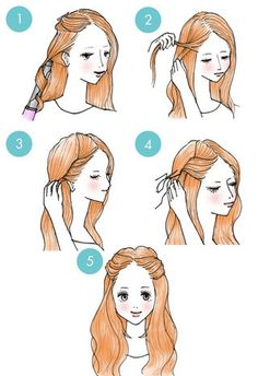 trendy hair tutorial pin up hairdos Five Minute Hairstyles, Daily Hairstyles, Step By Step Hairstyles, Braided Hairstyles Tutorials, Trendy Hairstyles, Hair Tutorials, Medium Long Hair, Medium Hair Styles, Curly Hair Styles