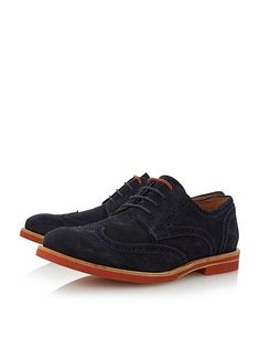 c05b3263 Dune Benito colour pop eva sole brogue shoes - in navy suede - smart/casual