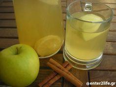 Φυσικό vερό αποτοξίνωσης με μήλο και κανέλα - Natural detox water with apple and cinnamon www.enter2life.gr
