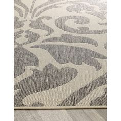 nuLOOM Transitional Indoor/ Outdoor Damask Grey Rug (5'3 x 7'9) | Overstock.com Shopping - The Best Deals on 5x8 - 6x9 Rugs