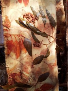 eco printing by Living&Dyeing, via Flickr