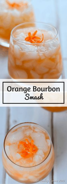 Orange Bourbon Smash: Bourbon and bitters and some orange come together in this warming, yet icy cocktail. Orange Bourbon Smash: Bourbon and bitters and some orange come together in this warming, yet icy cocktail. Cocktails Vodka, New Year's Eve Cocktails, Vodka Martini, Bourbon Drinks, Summer Cocktails, Cocktail Drinks, Cocktail Recipes, Cocktail Ideas, Martinis