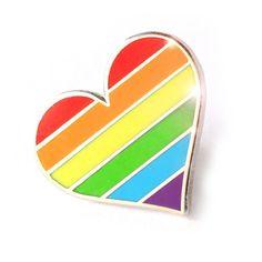 'LGBTQ Rainbow Pride Heart' Pin