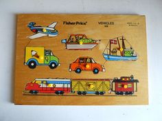 We had this puzzle vehicle puzzle Jouets Fisher Price, Fisher Price Toys, Vintage Fisher Price, My Childhood Memories, Childhood Toys, Great Memories, Retro Toys, Vintage Toys, Little Tykes