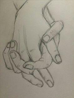 Art Drawings Sketches Simple, Pencil Art Drawings, Cool Drawings, Sketches Of Hands, Sketches Of Boys, Sketches To Draw, Easy Hand Drawings, Bff Drawings, Disney Sketches