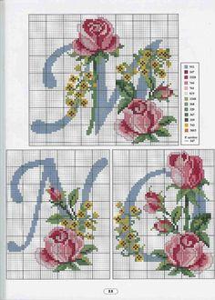 Cross Stitch Alphabet Patterns, Cross Stitch Letters, Cross Stitch Cards, Simple Cross Stitch, Cross Stitch Samplers, Cross Stitch Animals, Cross Stitch Embroidery, Stitch Patterns, Crochet Basket Pattern