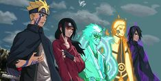 Boruto, Sarada, Mitsuki, Naruto & Sasuke *if this is how they look like as teenagers/young adults I will be completely satisfied with the series* Anime Naruto, Naruto Shippuden Sasuke, Naruto Kakashi, Sarada E Boruto, Naruto Cute, Inojin, Naruto Girls, Sarada Uchiha Wallpaper, Naruto Wallpaper