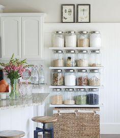 Idee per arredare la cucina in stile rustico - Cucina con vani a ...