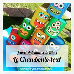 ∗ Jeux et Animations de Fêtes : Le Chamboule-tout ∗                                                                                                                                                     Plus Camping 2017, Outdoor Games, Bowling, Drink Sleeves, Lily, Fancy, Activities, Crafts, Handmade