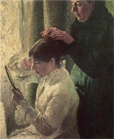 Mother and Daughter - Federico Zandomeneghi 1879