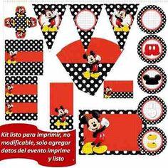 Kit imprimible Mickey Mouse gratis - Imagui