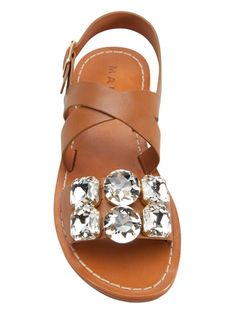 Trend Crystal Embellished Sandals - MARNI - jeweled sandal | SS 2014 | cynthia reccord