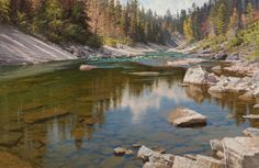 "South Fork Of The Flathead River 26""x40"" Oil on Linen. By Jay Moore"
