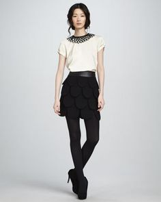 #Neiman Marcus            #Skirt                    #Linde #Cleo #Petal #Skirt                          Linde Top & Cleo Petal Skirt                                                  http://www.seapai.com/product.aspx?PID=516230