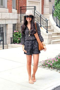 Black + White Romper.