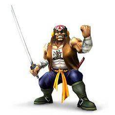 Samurai Goroh Holding sword from the official artwork set for #SuperSmashBros #Brawl on #Wii. #Mario #Pokemon #SmashBros http://www.superluigibros.com/super-smash-bros-brawl