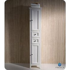 Fresca - Oxford Antique White Tall Bathroom Linen Cabinet - FST2060AW - Home Depot Canada