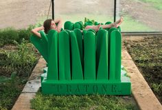 Italian furniture retailers Gufram brings back their 1972 Pratone, a playful chaise lounge outside tradition values.