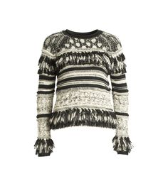 Fringe Sweater - Y29122HF This product is FINAL SALE. *Subject to availability: your card will be charged when stock is confirmed and picked to order*
