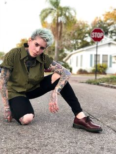 100 Most Stylish dapperQs 2018 - dapperQ Queer Fashion, Tomboy Fashion, Punk Fashion, Urban Fashion, Fashion Outfits, Tomboy Style, Butch Lesbian Fashion, Fashion Styles, Butch Fashion