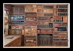 vintage suitcase wall
