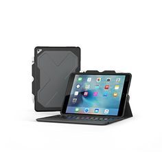 e8df8a978a8 Zagg Rugged Messenger Wireless Tablet Keyboard & Durable Detachable Case  for inch iPad Pro, Black