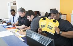 Sales Manager Taylor Stone had so many prices to slash, he needed help with the tags. #FindYourTag #ChevyTeamwork See more at http://www.miltonrubenchevy.com
