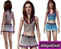 Emma's Simposium Sims 3 Cemetery: RIP 000070 - Adelyne Sims 3 Skirt 025 - Donated!!!