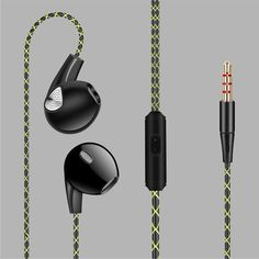 Jack Bass Wired Earphones for Phone with Microphone