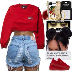 tommyxpuma by neshalove223 on Polyvore featuring polyvore, fashion, style, Puma, Topshop, MICHAEL Michael Kors, Bling Jewelry, Michael Kors, Illamasqua and clothing Chill Outfits, Cute Swag Outfits, Cute Summer Outfits, Dope Outfits, Outfits For Teens, Casual Outfits, Grunge Outfits, Summer Wear, Teen Fashion