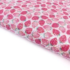Strawberry Fields Chunky Glitter Fabric Sheets Strawberry Fields, Glitter Fabric, Day Up, All Design, Craft Supplies, Bows, Colours, A4, Projects