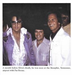 EP @ memphis airport with Pat Boone and Charlie month before he passed away........