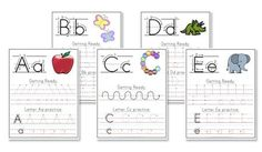 Confessions of a Homeschooler: FREE Handwriting Worksheets also containing some pre-writing practice with each letter. Welcome To Preschool, Kindergarten Writing, Preschool Learning, Kindergarten Handwriting, Preschool Alphabet, Alphabet Crafts, Alphabet Letters, Literacy, Spanish Alphabet