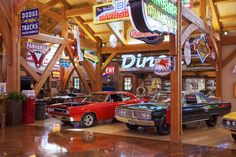 Texas Timber Frames | Hemi Hideout Car Barn Cathedral Photo Gallery