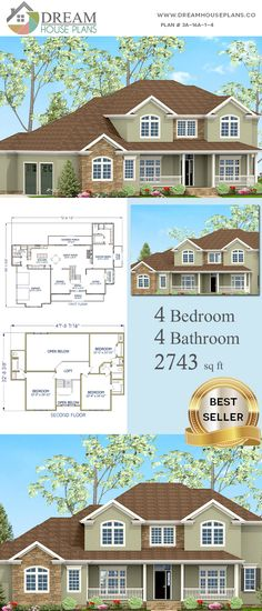 house plan with cus. - House Plans, Home Plan Designs, Floor Plans and Blueprints Simple House Plans, Southern House Plans, Family House Plans, Dream House Plans, Custom Home Plans, Custom Homes, House Blueprints, Story House, Plan Design