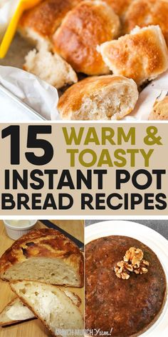 INSTANT POT BREAD recipes to put that electric pressure cooker to use! The yogur. - INSTANT POT BREAD recipes to put that electric pressure cooker to use! The yogurt button makes brea - Best Instant Pot Recipe, Instant Pot Dinner Recipes, Instant Recipes, Gourmet Recipes, Crockpot Recipes, Cooking Recipes, Easy Recipes, Chicken Recipes, Cooking Icon