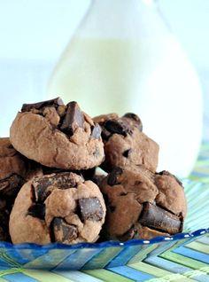 Double Rich Chocolate Protein Cookies @spabettie