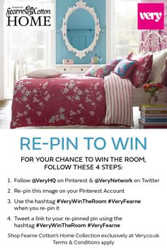 Want to win this ENTIRE room from Fearne Cotton's latest home collection for Very?   Simply re-pin  using the hashtag #VeryWinTheRoom #VeryFearne and you'll be put in the draw for the chance to WIN the room. Click pin for full T&Cs.  Shop Fearne's collection at Very >> http://www.very.co.uk/home-garden/fearne-cotton/e/b/12981,4294954879.end