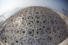 Final outer piece of Louvre Abu Dhabi's jigsaw canopy put in place