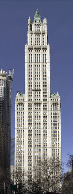 Woolworth Building. NYC - 792ft  Tallest building in the world from 1913 until 1930; tallest building built in the U.S. and the world in the 1910s.